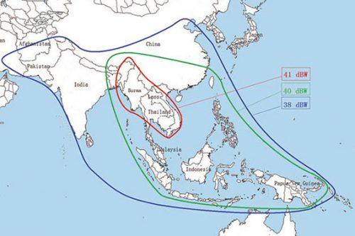 LAOSat-1 satellite footprint C- & Ku-band Beam