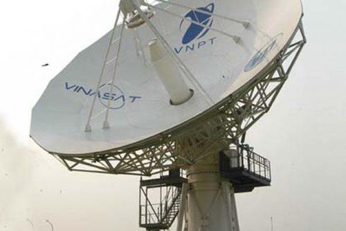 Satellite Gateway antenna controlling Vinasat satellite