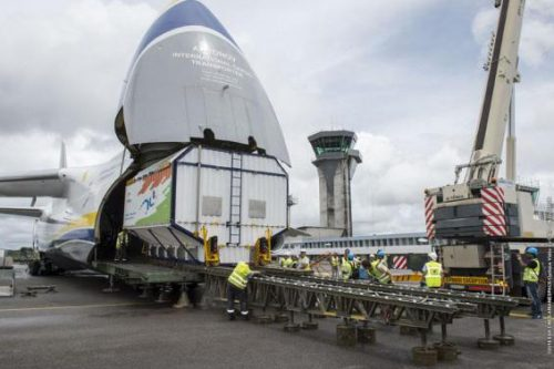Sky Muster I arrives in French Guiana