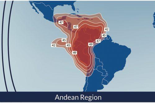 Telesat Telstar-14R Satellite Footprint Andean Region