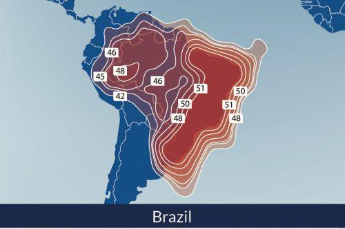 Telesat Telstar-14R Satellite Footprint Brazil