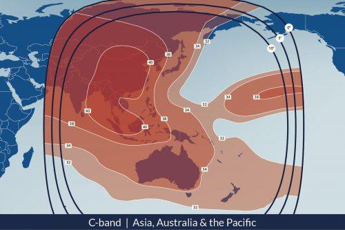 Telesat Telstar-18 Satellite Footprint C-band Asia & Oceania