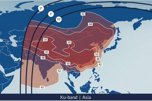 Telesat Telstar-18 Satellite Footprint Ku-band Asia