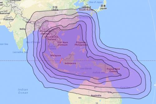 Telkom-4 satellite footprint
