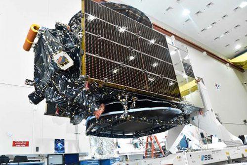 Telkom-4 satellite under construction