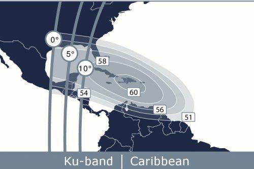 Telstar 12V Caribbean Ku-band Beam