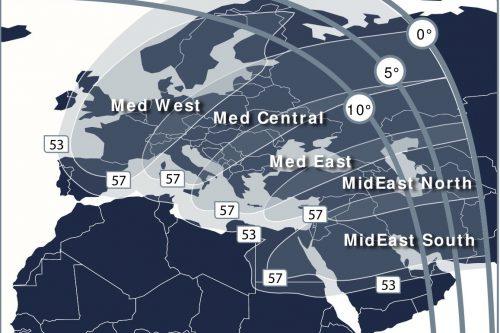 Telstar 12V Mediterranean & Middle-East Ku-band Beam