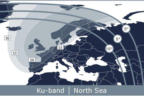 Telstar 12V North Sea Ku-band Beam