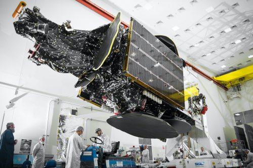 Telstar-18V satellite under construction with SSL