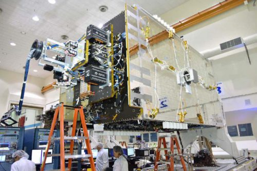 Telstar-18V satellite under construction