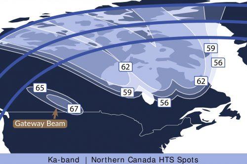Telstar 19V North Canada Ka-band HTS Spots