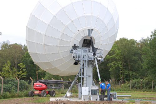 Skybrokers provided Earth Station Antenna Installation services of VertexRSI 11.1m C-band