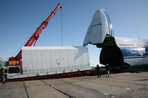 AMC-14 satellite arrives at Baikonour Cosmodrome