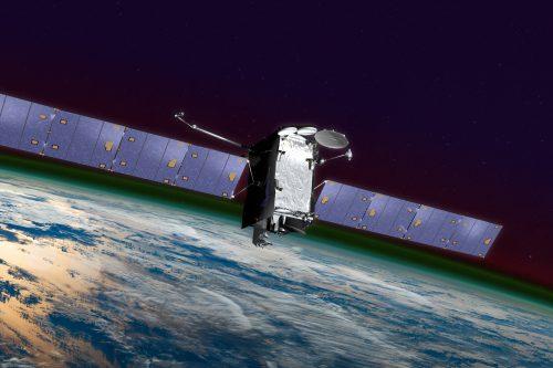 AMC-14 satellite in orbit