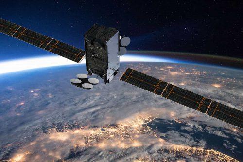 AMC-16 satellite in orbit