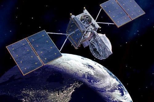 AMC-18 satellite in orbit