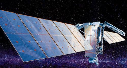 AMC-4 satellite in orbit