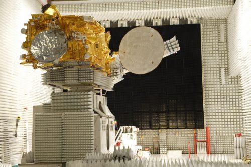AMC-6 satellite in anechoic chamber