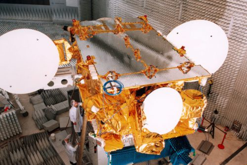 AMC-6 satellite under test