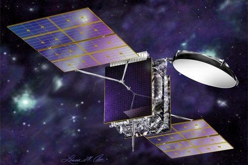 AMC-7 satellite in orbit