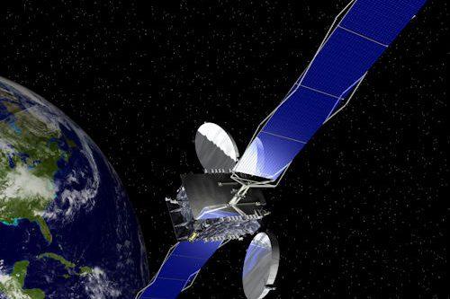 AMS-21 satellite in orbit