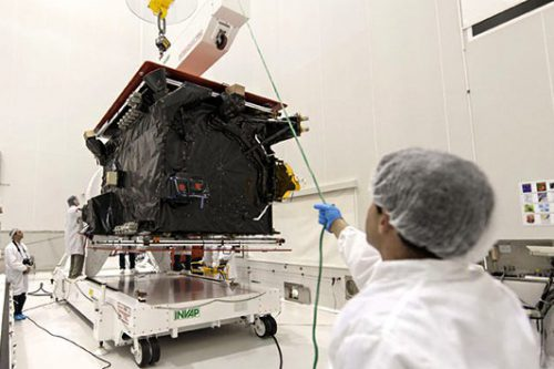 ARSat-1 prepared at Arianespace for launch
