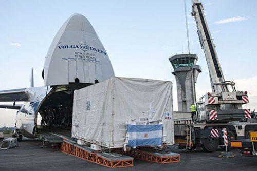 ARSat-1 satellite transported