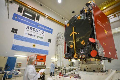 ARSat-2 satellite under construction