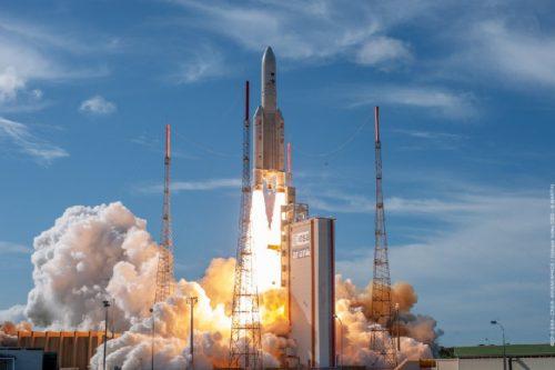 Ariane 5 launching Anik F2