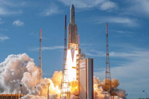 Ariane 5 launching Eurobird 1 satellite
