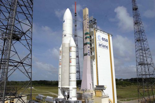 Ariane 5 with Astra 2F on launch pad