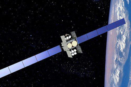Astra 1N satellite in orbit