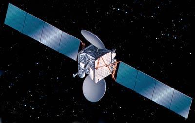 Astra 2D satellite in orbit