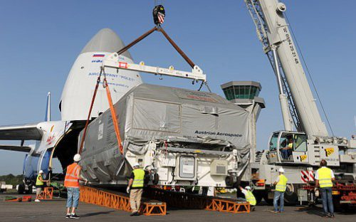 Astra 3A arrives at Arianespace