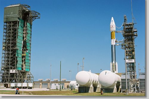 Atlas II rocket with GE-1 (AMC-1) ready for launch