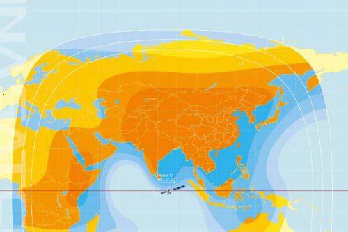 ChinaSat-12 C-band EIRP Global beam