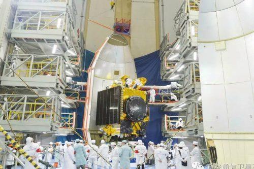ChinaSat-6B satellite encapsulated