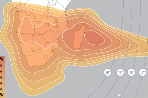 E10A Ku-Band Africa Downlink Coverage