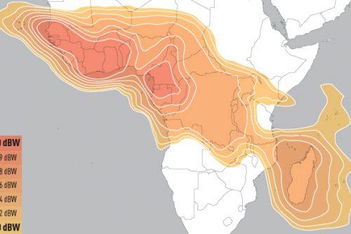 E16A Ku-band Africa Downlink coverage