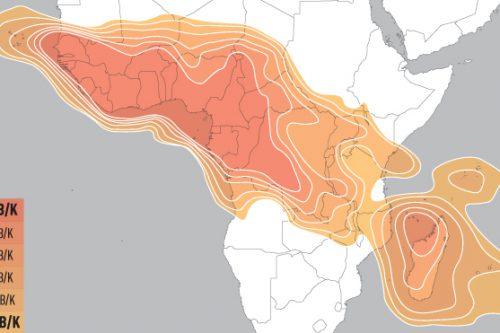 E16A Ku-band Africa Uplink coverage