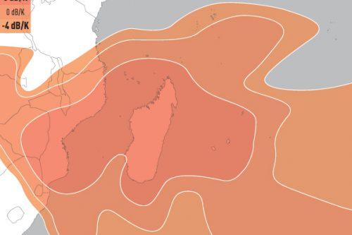 E16A Ku-band South-East Africa Uplink coverage