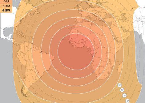 E5WA C-Band Global Uplink Coverage