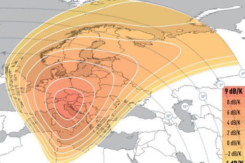 E5WA Ku-Band Spot2 (Eastern-Europe) Uplink Coverage