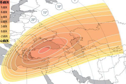 E5WA Ku-Band Spot3 (Central-Asia) Uplink Coverage
