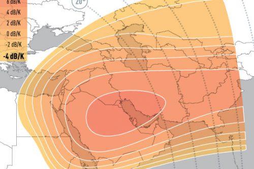 E5WA Ku-Band Spot4 (Middle-East) Uplink Coverage