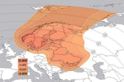 E9B Ku-band Nordic Baltic downlink coverage