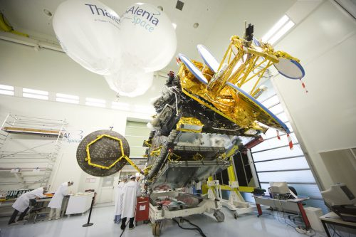 Eutelsat 36B satellite in the clean room