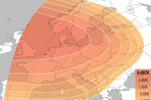 EUTELSAT 70B Ku-band Europe Uplink Coverage