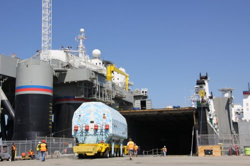EUTELSAT 70B received at Sea Launch