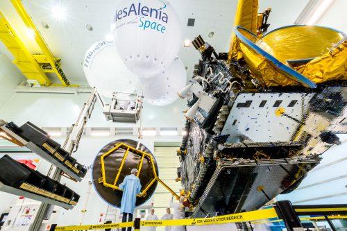 EUTELSAT 8 West B satellite in the clean room